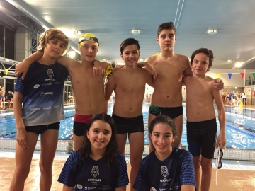 1ª Jornada Liga Alevín natación en Club del Mar de San Amaro
